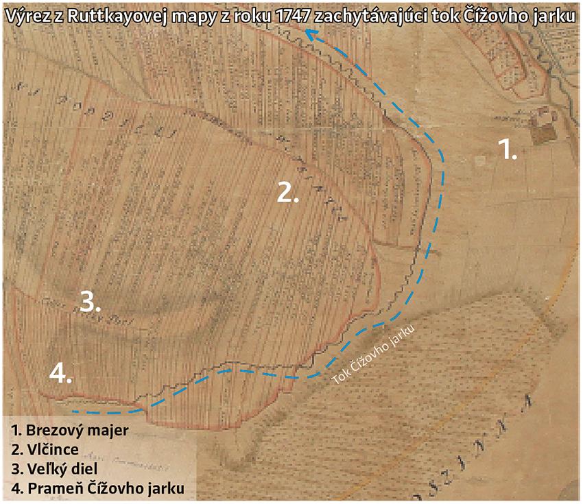 Ruttkayova mapa z r. 1747