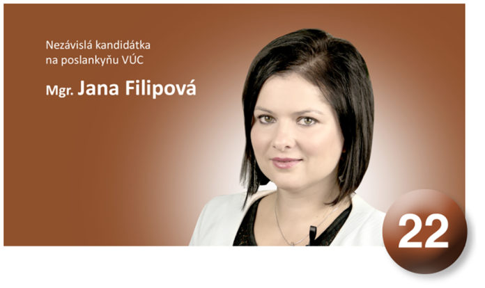 Jana Filipová kandiduje za poslynkyňu ŽSK